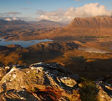 Assynt Mountains from Stac Pollaidh, Assynt, Sutherland, Scotland by James Paul