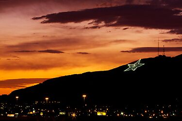 El Paso's Star on the Mountain by Ray Chiarello