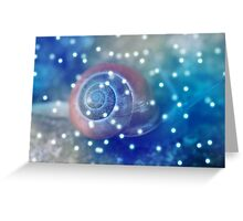 Snail in the Winter Greeting Card