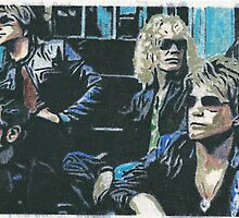 Bon Jovi A4 Canvas by chrisjh2210