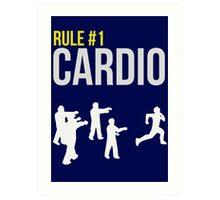 Zombie Survival Guide - Rule #1 Cardio Art Print