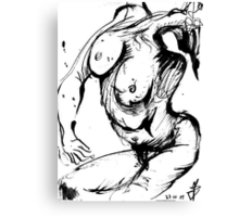 Weird contorsionated Nude Canvas Print