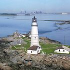Aerial view of Boston Light by Jeremy D'Entremont