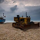 Fishing Boat and Bulldozer by Nigel Bangert