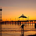 Sunset Silhouette at Brighton Jetty by BenClarkImagery