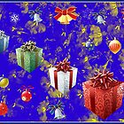 Christmas Presents Greeting Card by kathrynsgallery