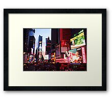Times Square in New York City at night photography Framed Print