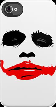 Creepy cool joker smile illustrated Batman iPhone 4/4s case at redbubble