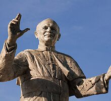 Statue of Pope John Paul II, Basilica of Notre-Dame de Fourvière, Lyon, France by Andrew Jones