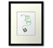 ipod pea in a pod Framed Print