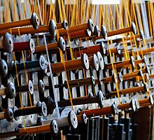 Bobbins of Silk, Soierie Vivante, Croix Rousse, Lyon, France by Andrew Jones