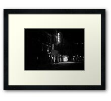 At Night When The City Pauses - East Village - New York City Framed Print
