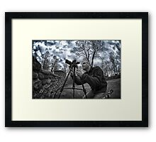 Photography of a photographer Framed Print