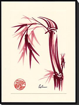 """Lovely""  zen bamboo brush painting by Rebecca Rees"