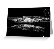 Reflection 1 Black and White Greeting Card