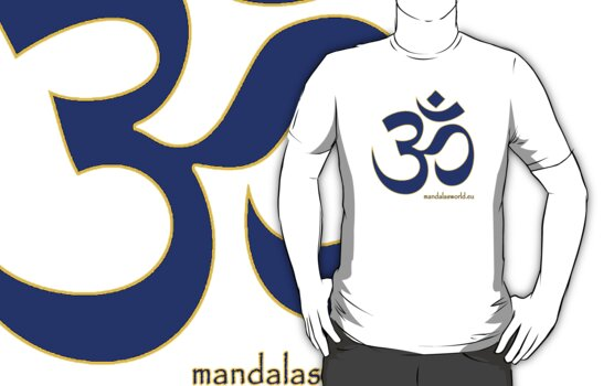 Buddhist Blue Om by Mandala's World