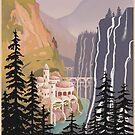 Fantasy valley travel poster by stevethomasart