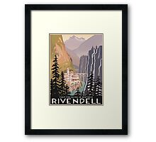 Fantasy valley travel poster Framed Print