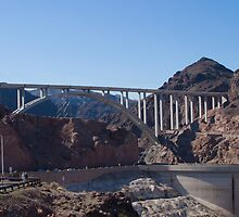 The Mike O'Callaghan - Pat Tillman Bridge from Hoover Dam by Henry Plumley