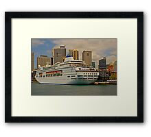 Ship to Shore to Skyline Framed Print