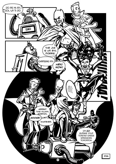 Page 4 of Good Game Batman Comic submission by Michael Lee