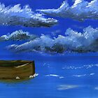 Boat at sea by Simon Rudd