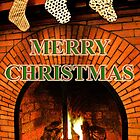 stockings hung with care     christmas card by dedmanshootn