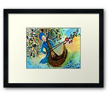 Singing with love Framed Print