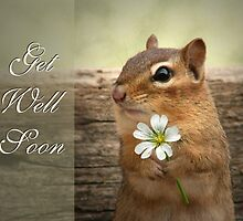 Chippy - Get Well Soon Card by Lori Deiter