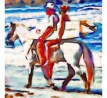 Surfing Texas Style Photographic Print