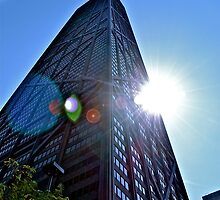 Sun over Hancock by Ginadg73