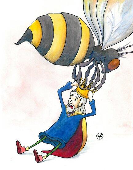 Giant Bumblebee Steals King's Crown by Tim Gorichanaz