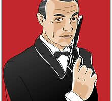 Digiter - Bond, Sean Connery by Lauren Eldridge-Murray