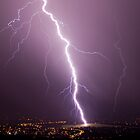 Lightning from Mt Ainslie, Canberra by Troy Barrett