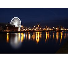 Dublin wheel reflections Photographic Print
