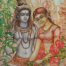 Shiva and Parvati by Vrindavan Das