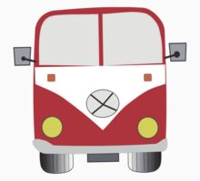 Chunky Red Camper Van Tee shirt by xenostral