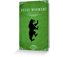 House Mormont Greeting Card