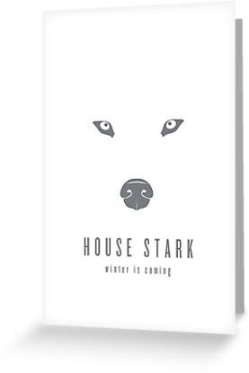 House Stark Minimalist Poster by liquidsouldes