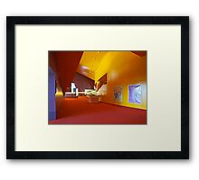 Primary Colours - Yellow, Red, Blue Framed Print