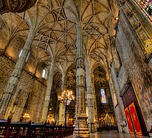 Church of Monastery of Jeronimos in Lisbon by pescas