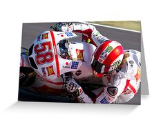 Marco Simoncelli 58 Greeting Card