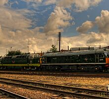 Row of Diesels by Aggpup