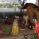 Birth in a nativity scene in a shoping center at the ocean - Nacimiento en belén en un supermercado en frente del oceano by Bernhard Matejka