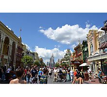 Main St. Magic Kingdom, Walt Disney World Photographic Print