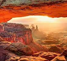 Mesa Arch Sunrise by Ted Lansing