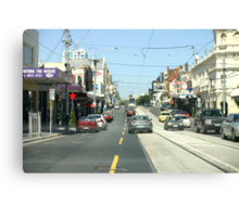 Narrow streets of Melbourne Canvas Print