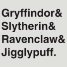 Hogwarts Houses by megan2505
