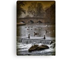 ...bridge(d)... Canvas Print