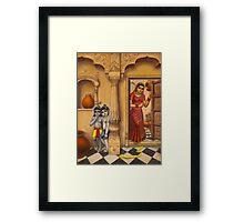 Krisha makhan chor Framed Print